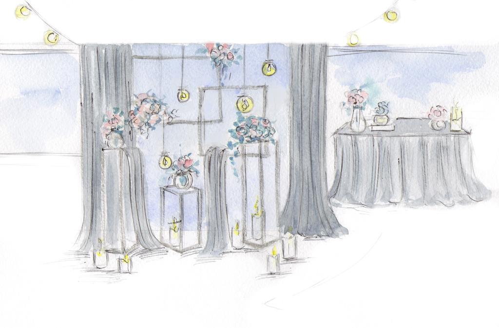 Эскиз декора от свадебного агенства Скоро Свадьба в Одессе