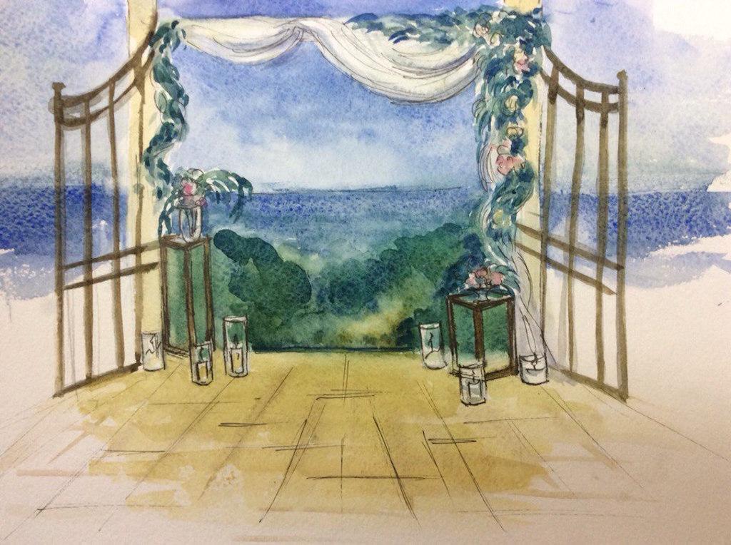 Эскиз свадьбы в Одессе