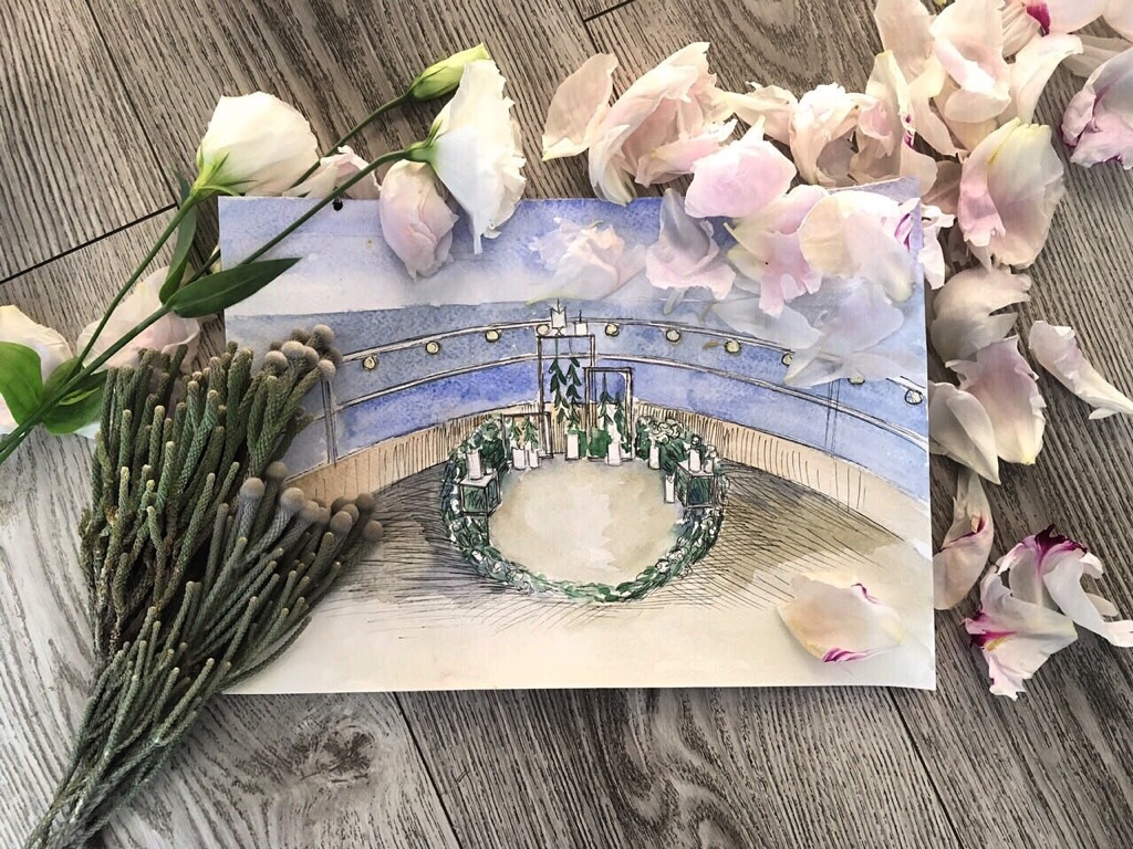 Эскиз от свадебного агенства Скоро Свадьба