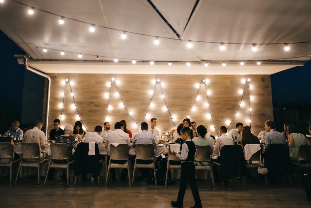 Декор свадьбы в ресторане Panorana De Lux
