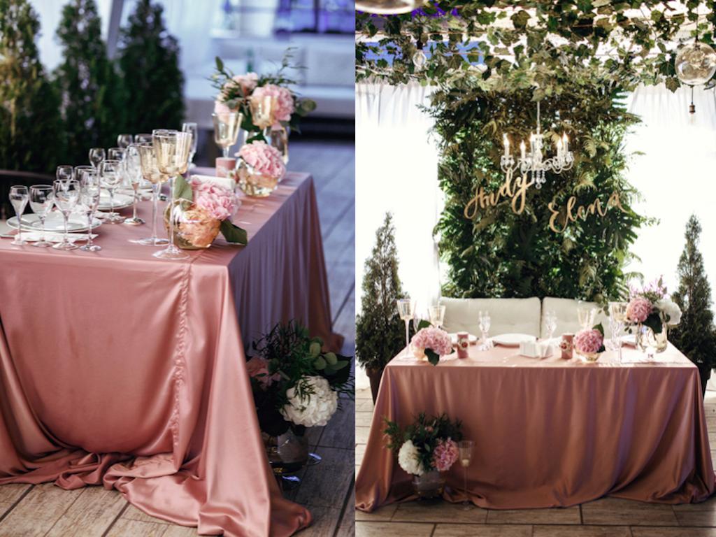 Декор свадебного президиума в ресторане Stella Residence