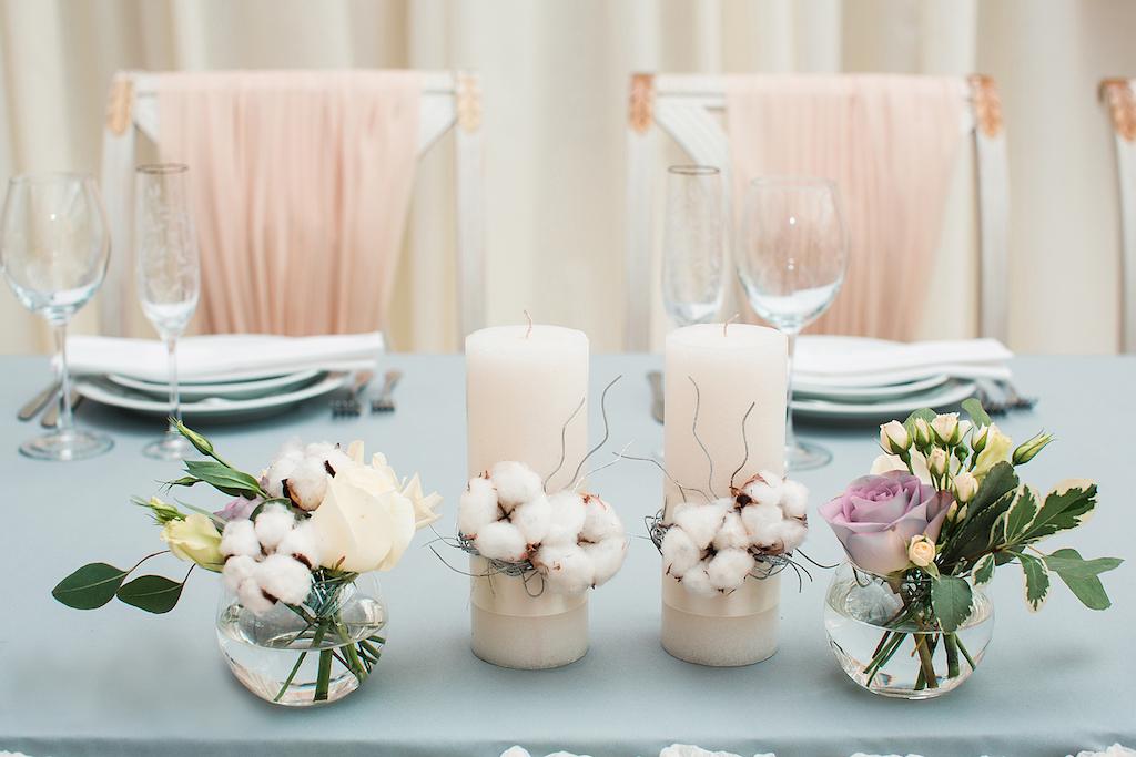Оформление свадебных свеч для семейного очага