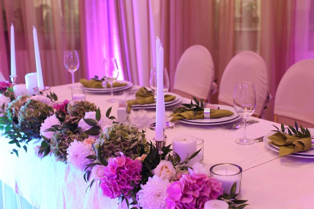 Оформление свадьбы живыми цветами в Одессе