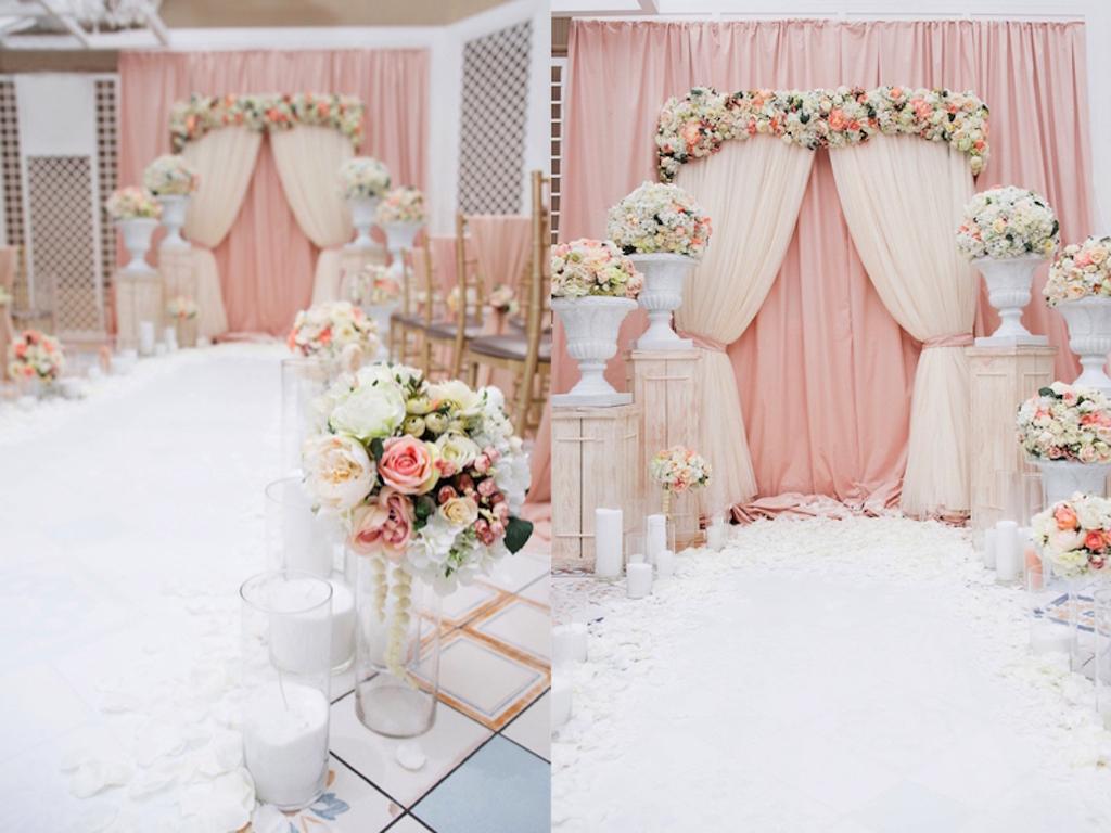 Декор свадьбы в ресторане Сады Победы