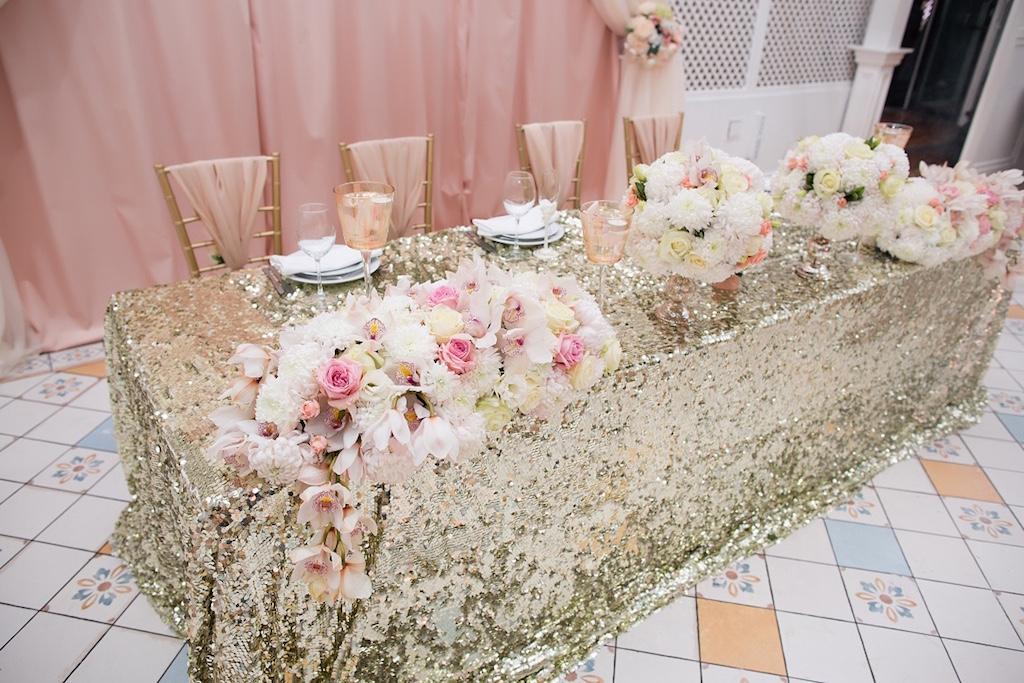 Свадебный декор в ресторане Сады Победы от свадебного агенства Скоро Свадьба