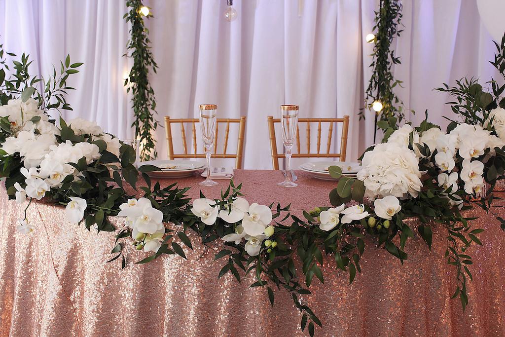 Декор свадебного президиума