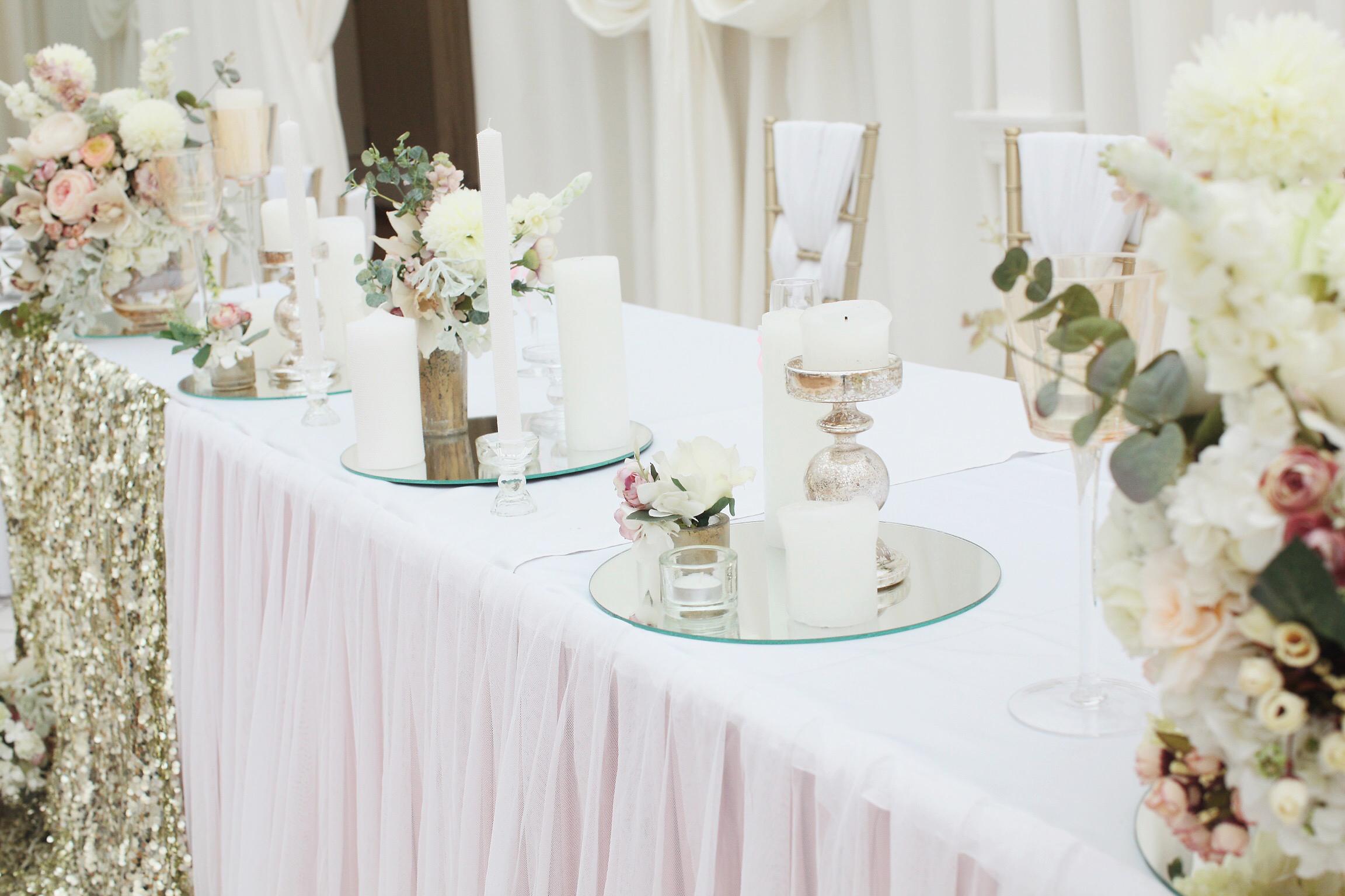 Детали декора для свадебного президиума