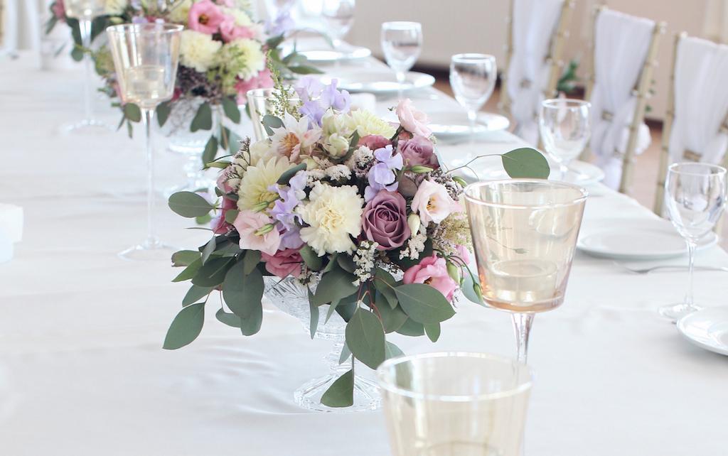 Цветочные композиции на свадьбу от Скоро Свадьба