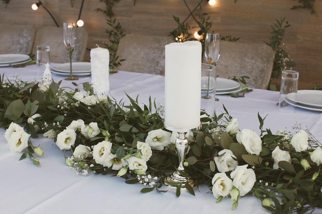 Декор ресторана Panorama De Lux свадебным агентством Скоро Свадьба