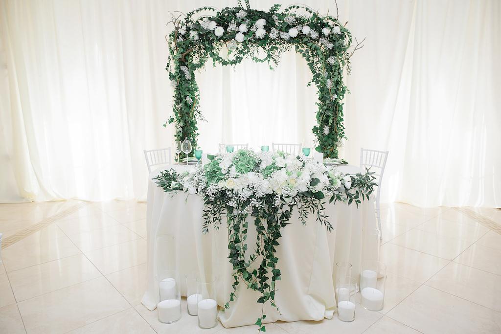 Декор свадьбы в ресторане Palace Del Mar свадебным агентством Скоро Свадьба