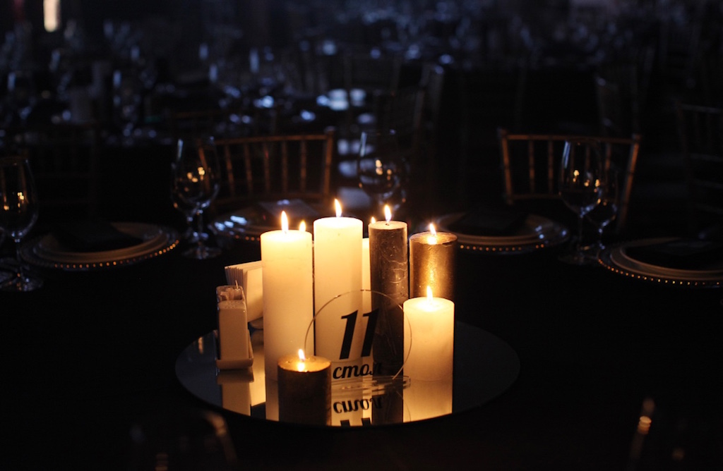 Свечи на банкете