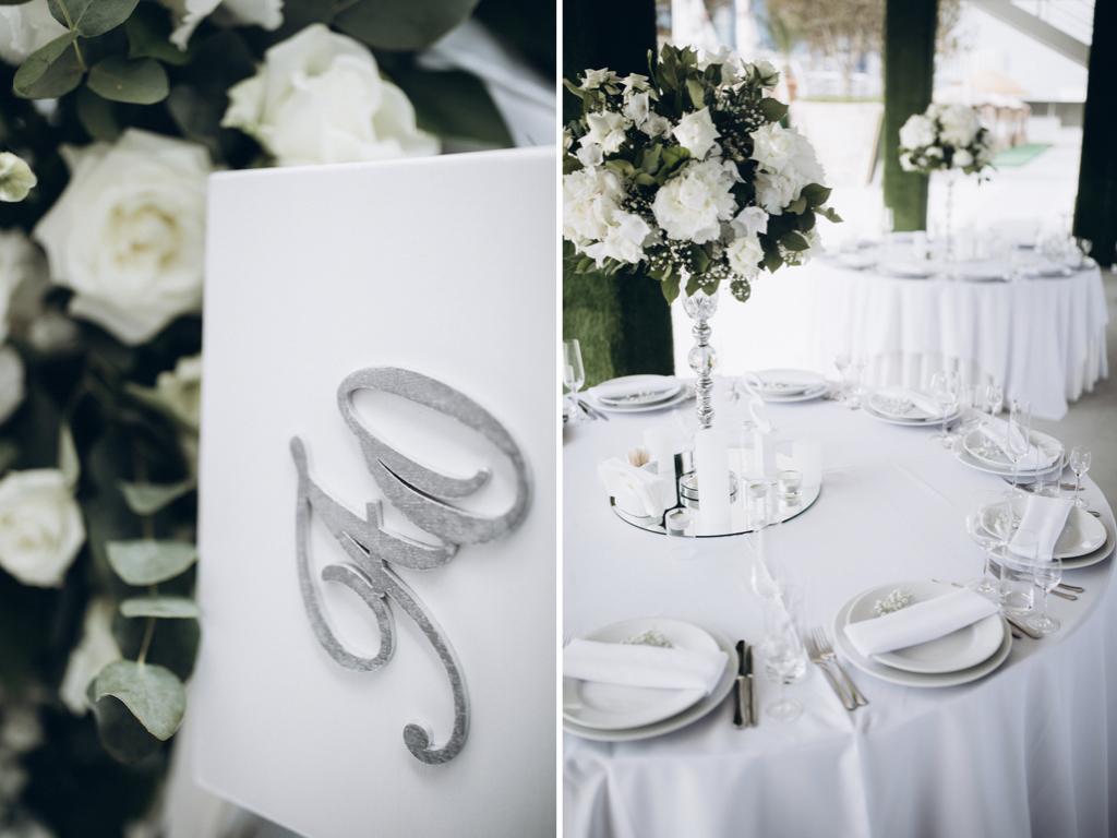 декор свадьбы живыми цветами Одесса