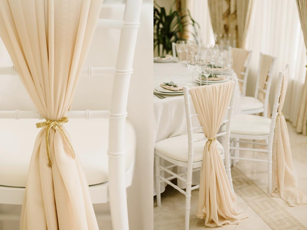 Украшение стульев на свадьбу Одесса