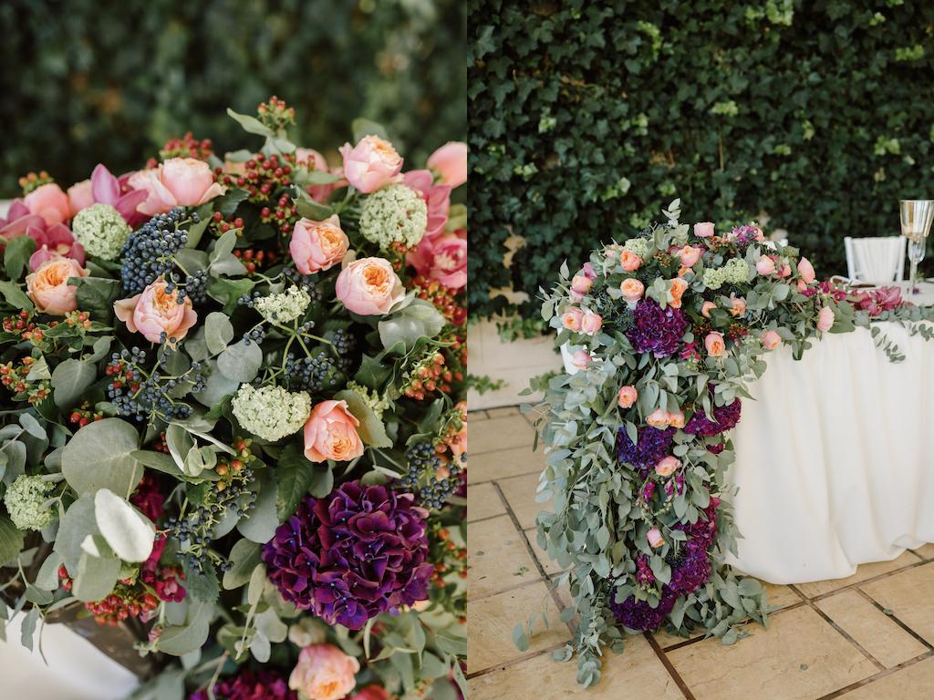 Оформление живой флористикой свадьбу в Одессе