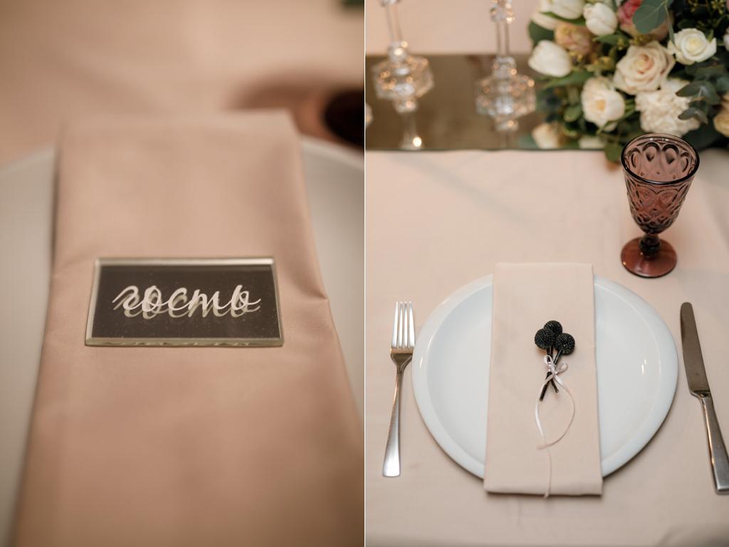 Свадебная сервировка в ресторане Одесса