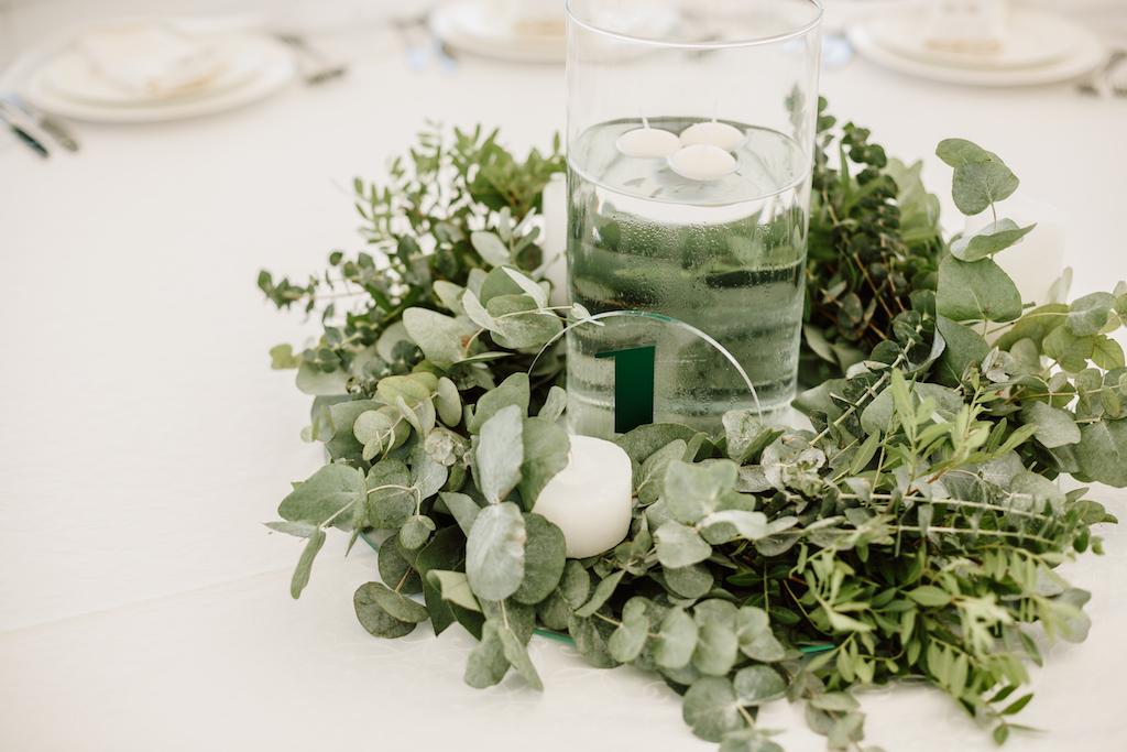 Живые композиции из зелени на гостевые столы