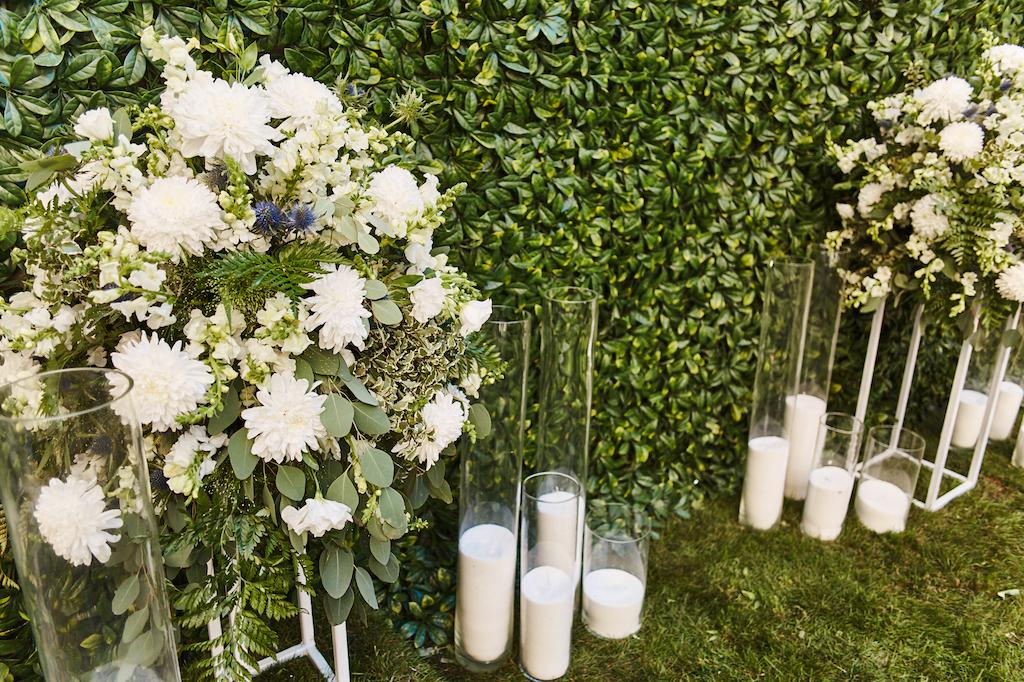 Декор свадьбы в ресторане Чилини