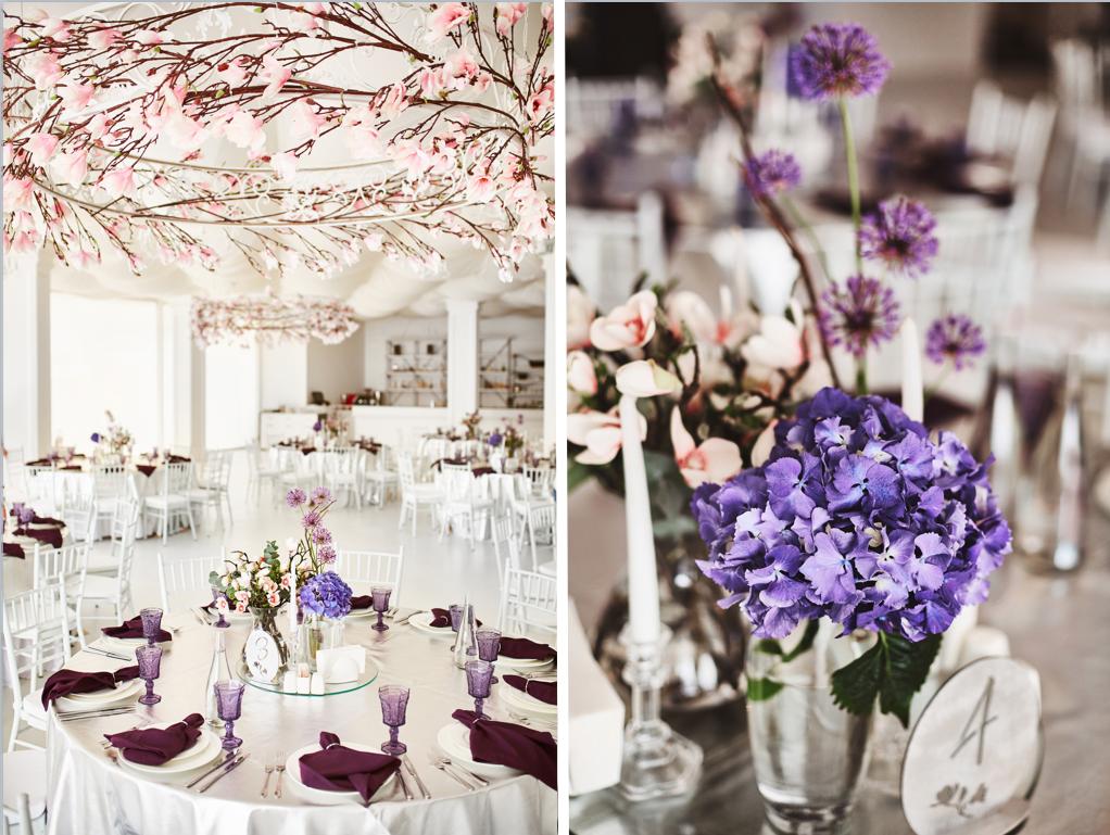 декор зала живыми цветами Одесса