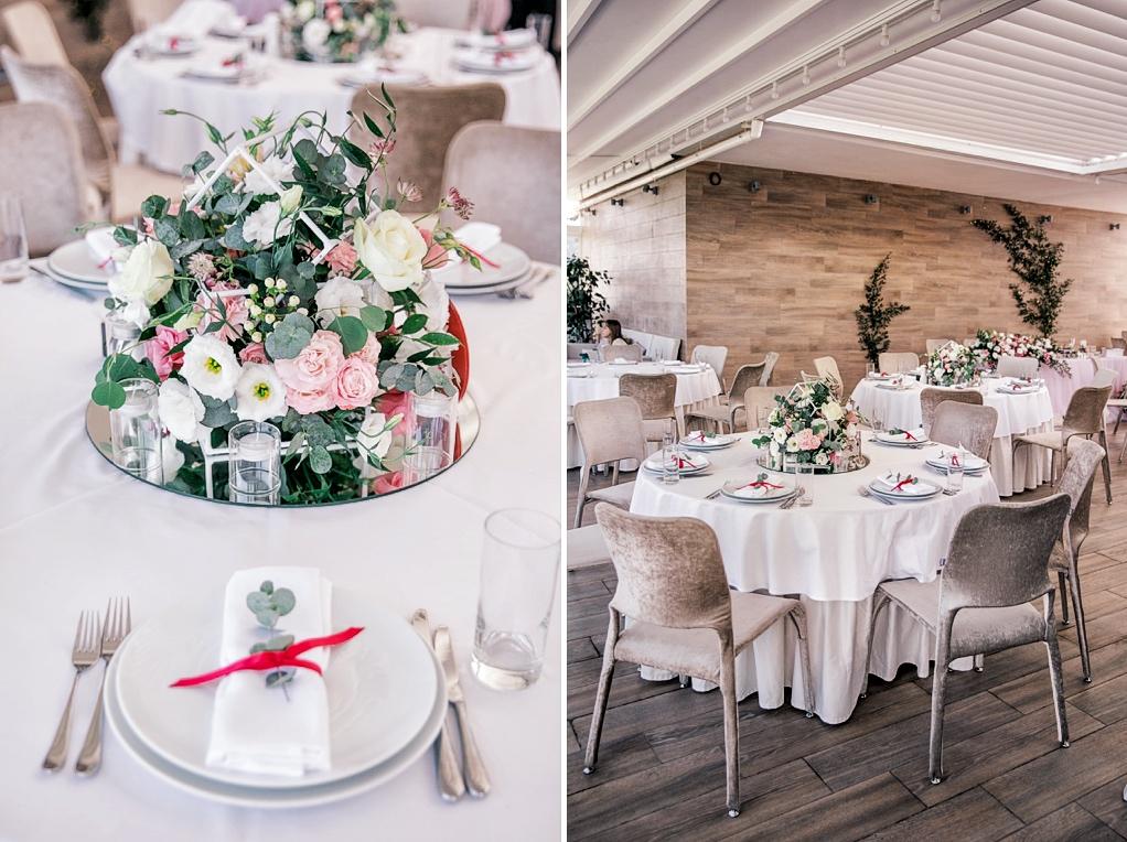 декор зала живыми цветами в Panorama De Luxe