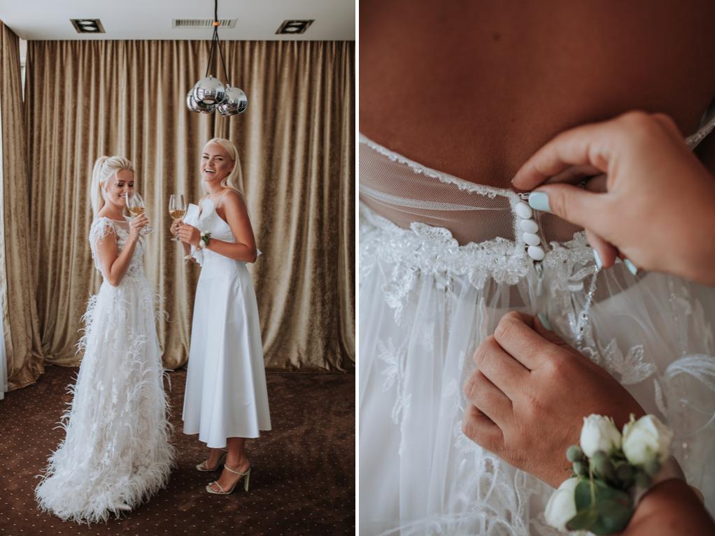 утро невесты в компании подружки невесты в отеле Panorama De Luxe