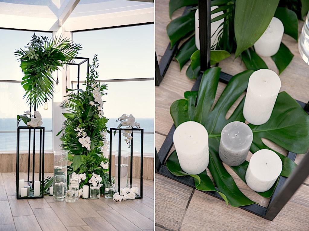 декор свадьбы тропики