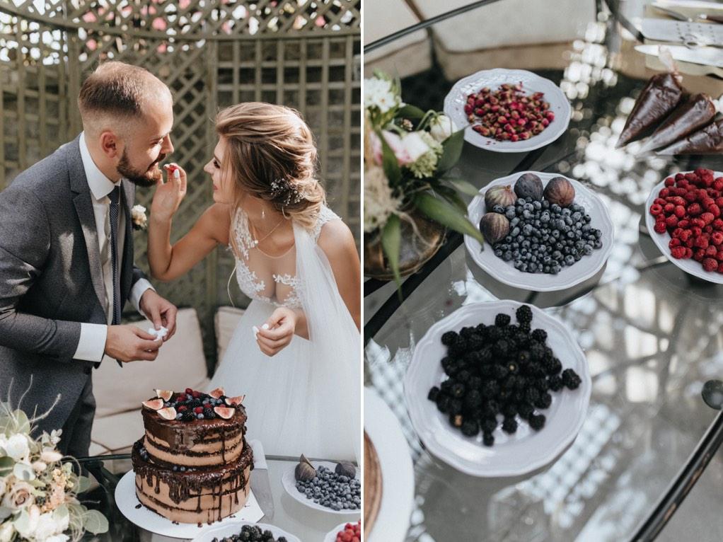 декор торта на свадьбу
