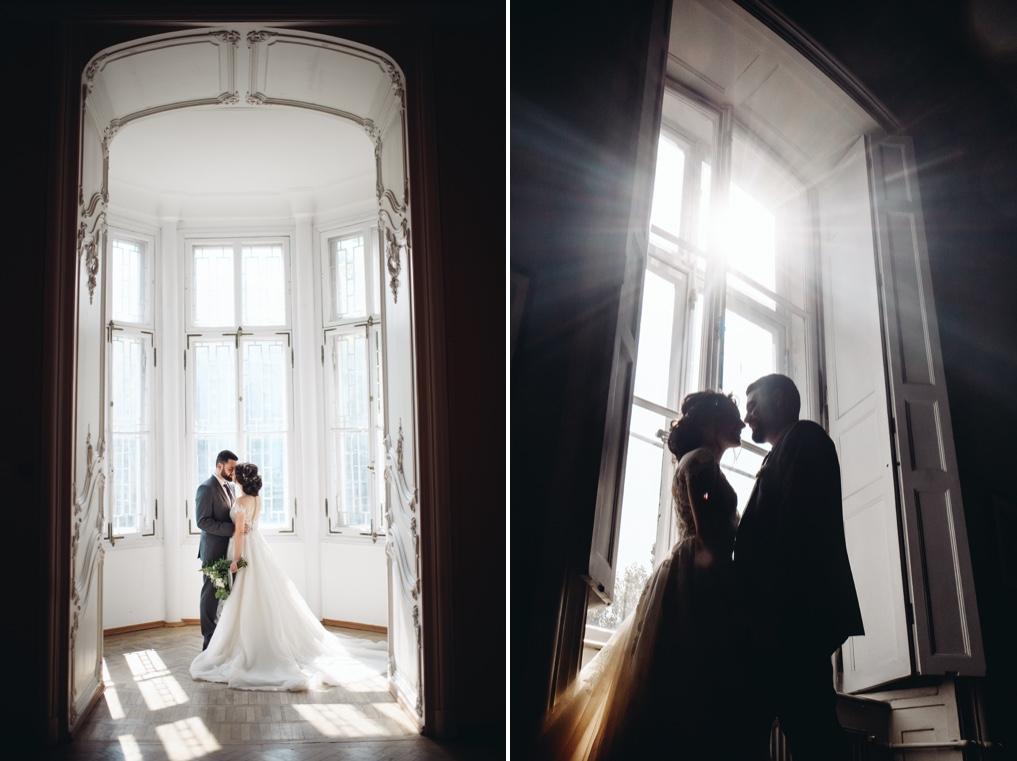 фотосессия прогулки молодожен в день свадьбы