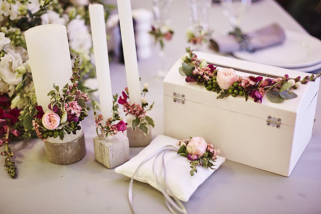 Декор свадьбы в ресторане Cellini