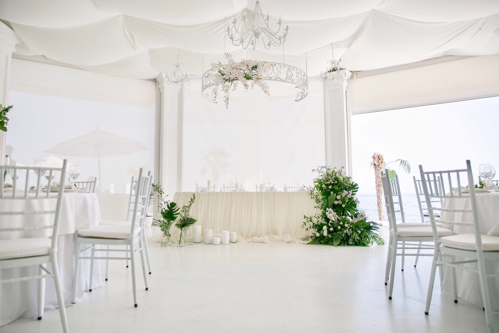 Декор свадьбы в ресторане Portofino