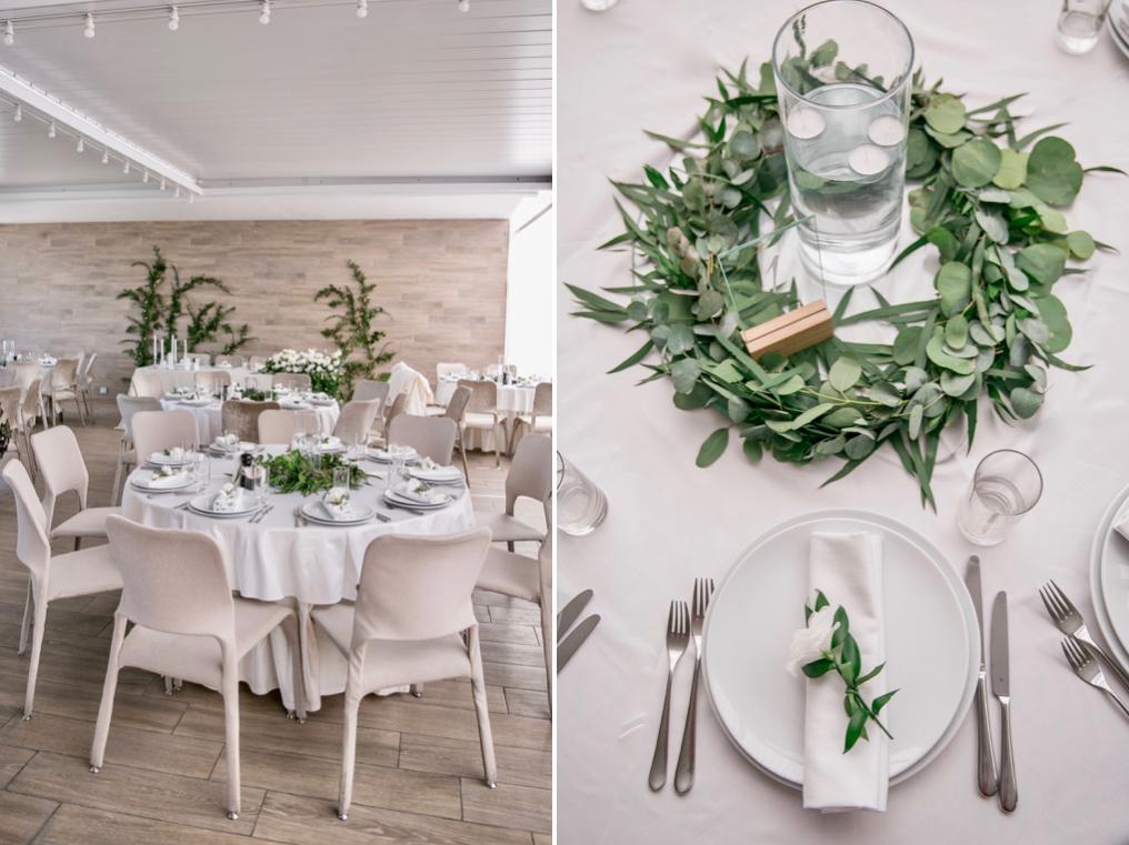 декор свадьбы живыми цветами в ресторане Panorama De Luxe