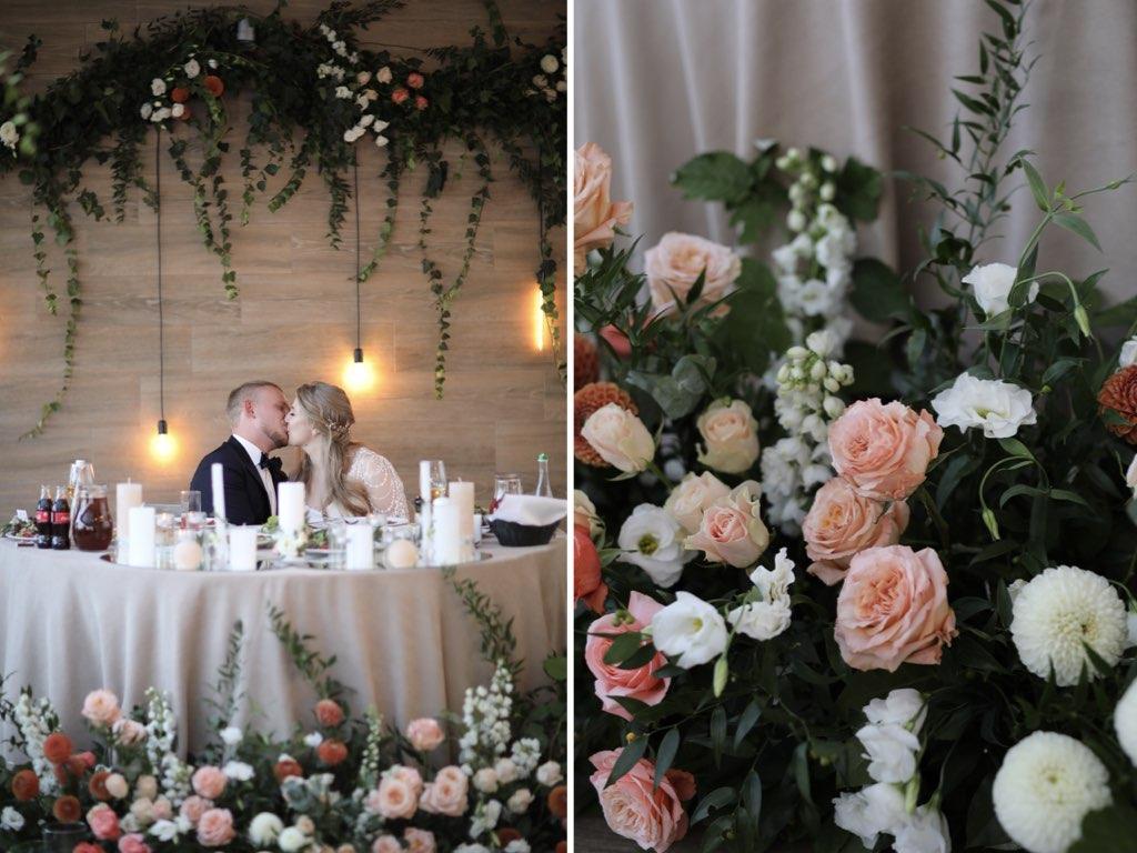 декор свадьбы в ресторане Panorama De Luxe