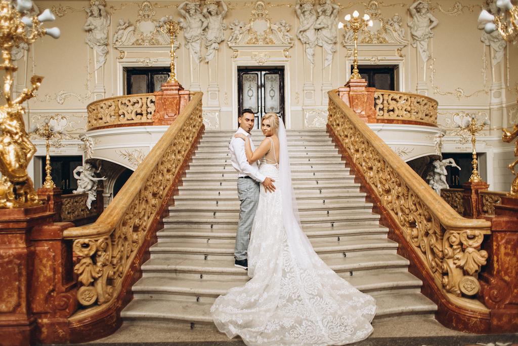 свадебное фото оперный театр