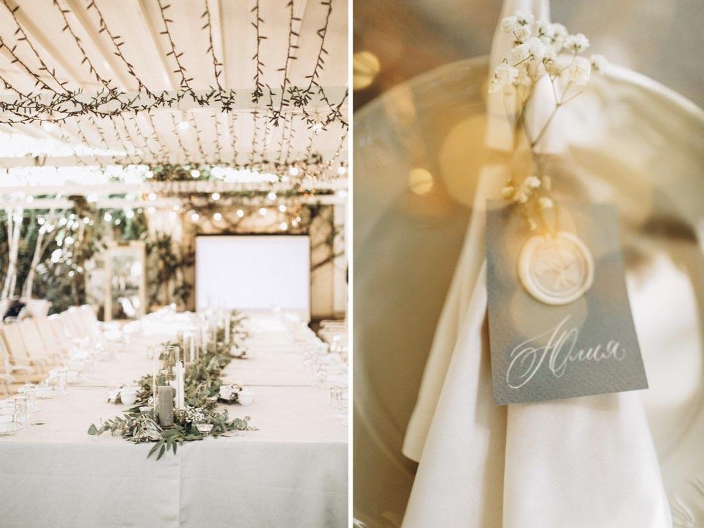 декор свадьбы в ресторане Александровский