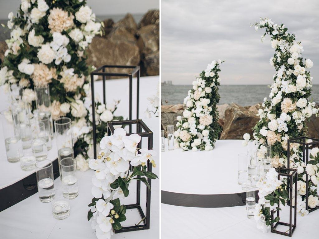 декор свадьбы у моря