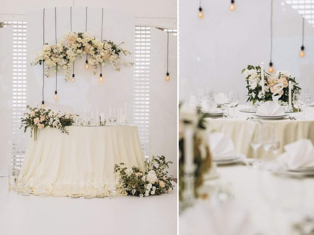 декор свадьбы в ресторане Grande Pettine