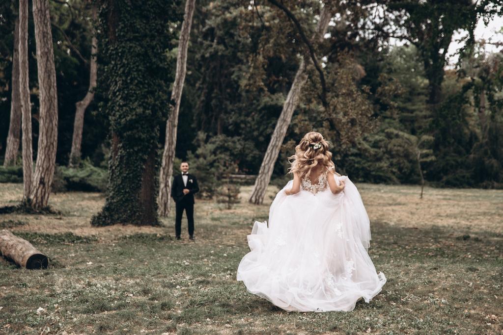 фото свадьба Ботанический сад