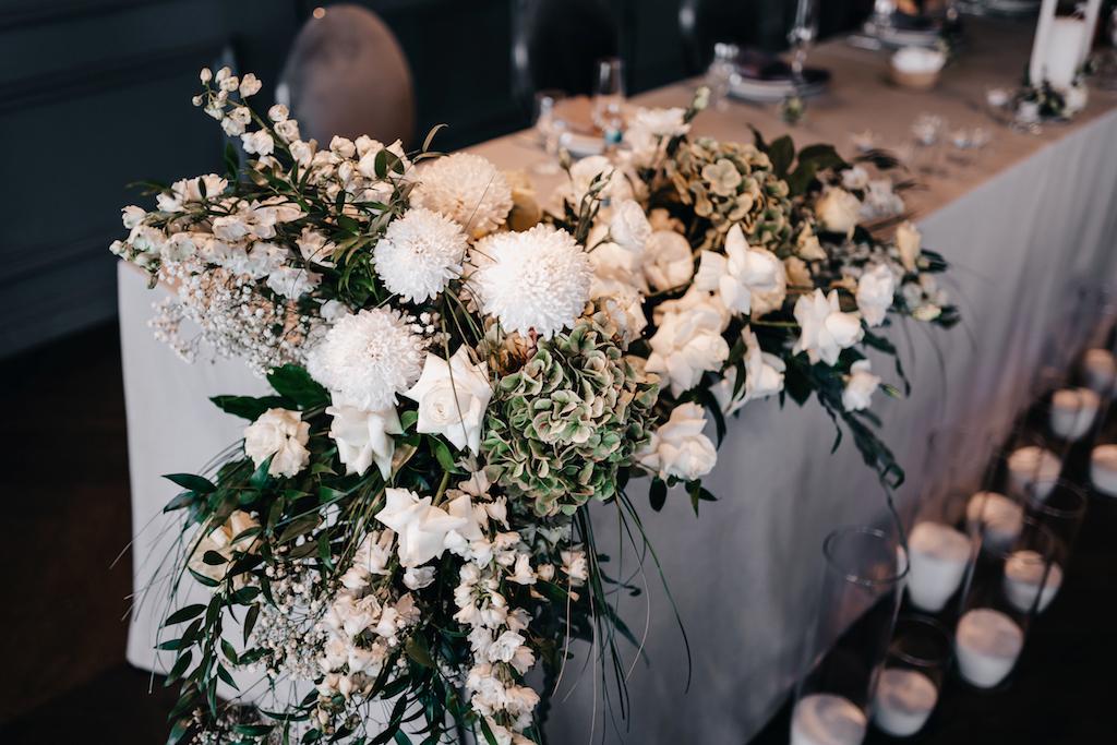 декор свадьбы в ресторане YUG