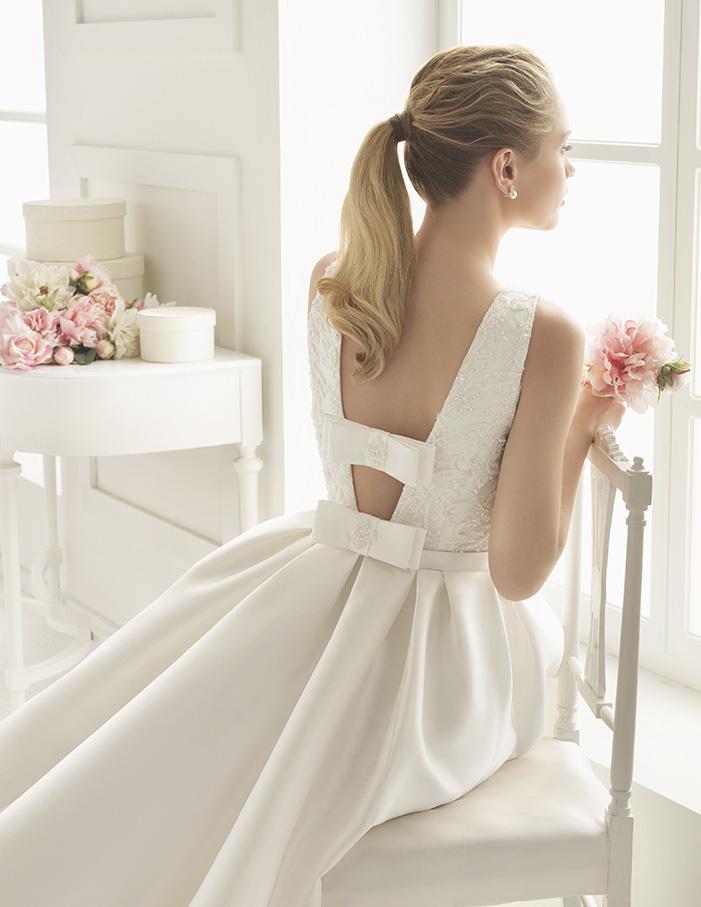 Emma (36, микадо/бисер, natural) Свадебное платье Rosa Clara в Одессе. Свадебный салон Скоро Свадьба.