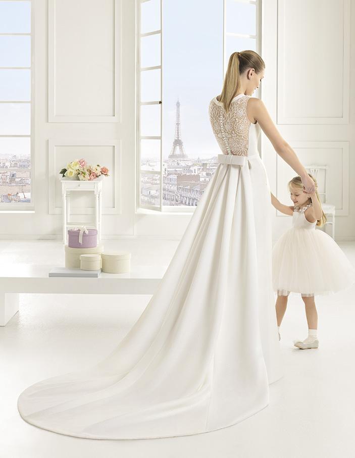 Elke (40, dress+train, natural) Свадебное платье Rosa Clara в Одессе. Свадебный салон Скоро Свадьба.