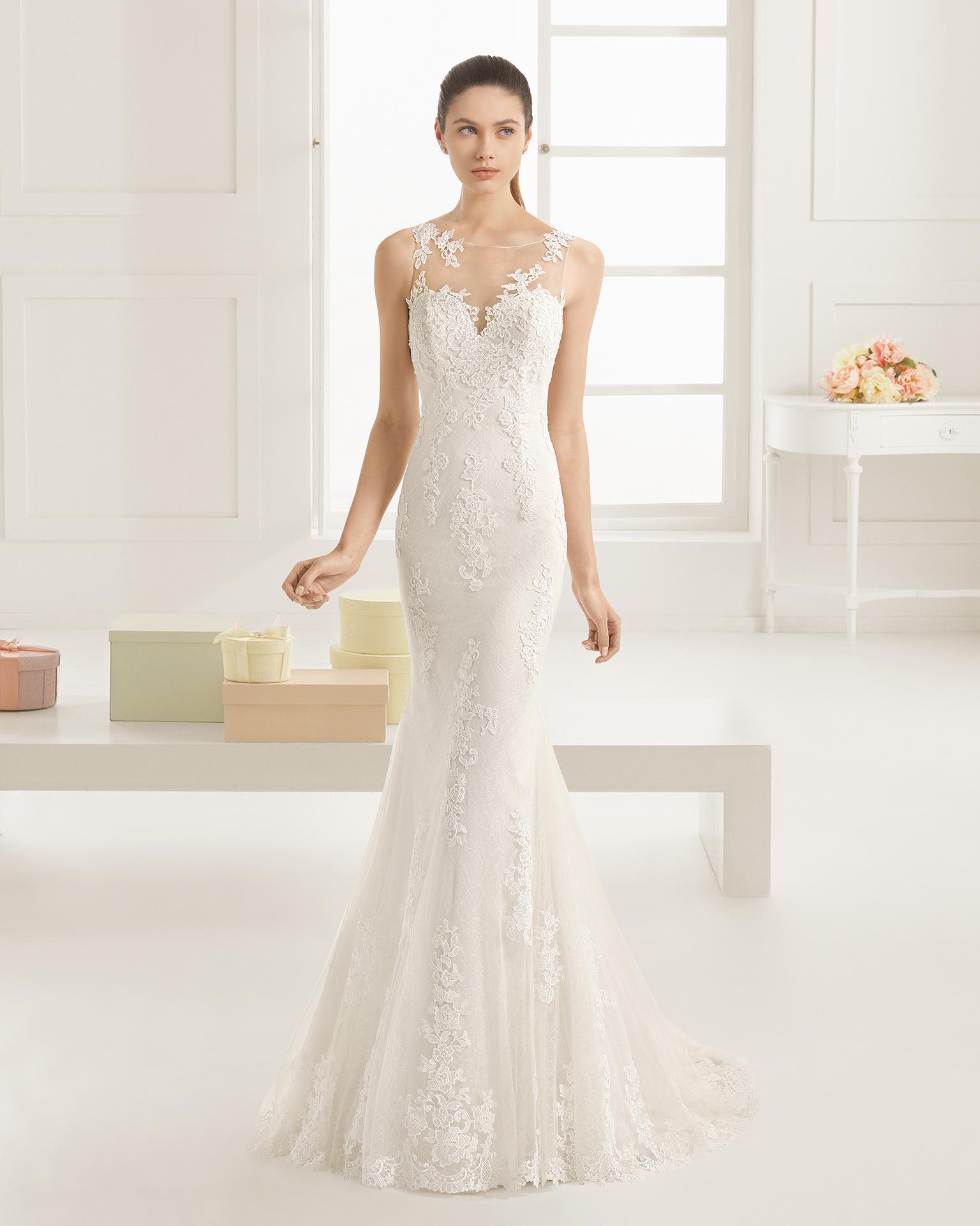 Exultante (40, гипюр, natural) Свадебное платье Rosa Clara в Одессе. Свадебный салон Скоро Свадьба.